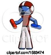 Blue Football Player Man Red Pill Or Blue Pill Concept