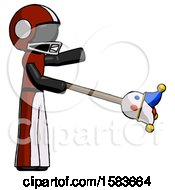 Black Football Player Man Holding Jesterstaff I Dub Thee Foolish Concept