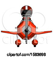 Black Football Player Man In Geebee Stunt Plane Front View