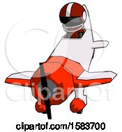 Black Football Player Man In Geebee Stunt Plane Descending Front Angle View