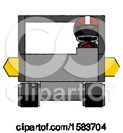 Black Football Player Man Driving Amphibious Tracked Vehicle Front View