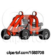 Black Football Player Man Riding Sports Buggy Side Angle View