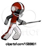 Black Football Player Man Stabbing With Ninja Sword Katana