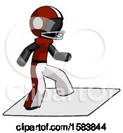 Black Football Player Man On Postage Envelope Surfing