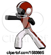 Black Football Player Man Martial Arts Punch Left