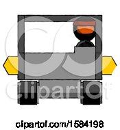 Orange Ninja Warrior Man Driving Amphibious Tracked Vehicle Front View