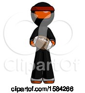 Orange Ninja Warrior Man Giving Football To You