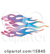 Rainbow Colored Flames With Red Purple Blue Green And Yellow
