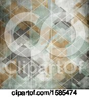 Clipart Of A Distressed Vintage Geometric Background Royalty Free Illustration