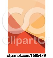 Clipart Of A Red And Orange Geometric Background Royalty Free Vector Illustration