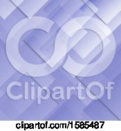 Clipart Of A Purple Geometric Background Royalty Free Vector Illustration
