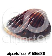 Clipart Of A 3d Sea Shell On A White Background Royalty Free Vector Illustration by dero