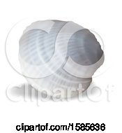 Clipart Of A 3d Sea Shell On A White Background Royalty Free Vector Illustration