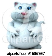 Clipart Of A 3d White Kitty Cat On A White Background Royalty Free Illustration by Julos