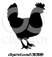 Poster, Art Print Of Silhouetted Chicken