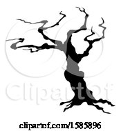 Silhouetted Spooky Bare Tree