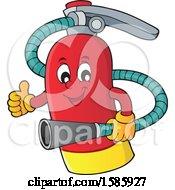 Cartoon Fire Extinguisher Character