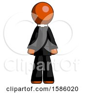 Orange Clergy Man Standing Facing Forward