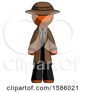 Orange Detective Man Standing Facing Forward