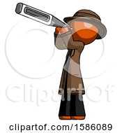 Orange Detective Man Thermometer In Mouth