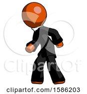 Orange Clergy Man Suspense Action Pose Facing Left
