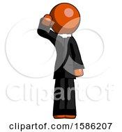 Orange Clergy Man Soldier Salute Pose