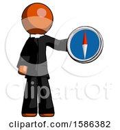 Orange Clergy Man Holding A Large Compass