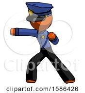 Orange Police Man Martial Arts Punch Left