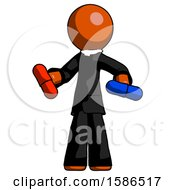 Orange Clergy Man Red Pill Or Blue Pill Concept