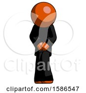 Orange Clergy Bending Over Hurt Or Nautious