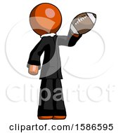 Orange Clergy Man Holding Football Up