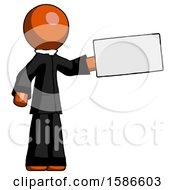 Orange Clergy Man Holding Large Envelope