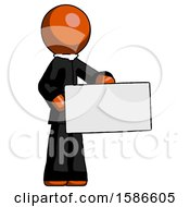 Orange Clergy Man Presenting Large Envelope