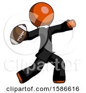 Orange Clergy Man Throwing Football