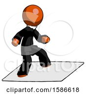 Orange Clergy Man On Postage Envelope Surfing