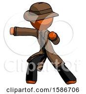 Orange Detective Man Martial Arts Punch Left