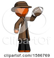 Orange Detective Man Holding Football Up