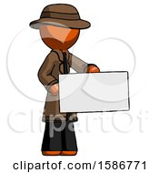 Orange Detective Man Presenting Large Envelope