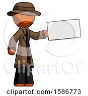 Orange Detective Man Holding Large Envelope