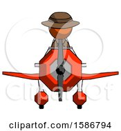 Orange Detective Man In Geebee Stunt Plane Front View
