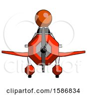 Orange Clergy Man In Geebee Stunt Plane Front View