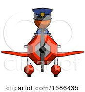 Orange Police Man In Geebee Stunt Plane Front View