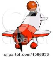 Orange Clergy Man In Geebee Stunt Plane Descending Front Angle View
