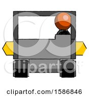 Orange Clergy Man Driving Amphibious Tracked Vehicle Front View