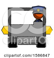 Orange Police Man Driving Amphibious Tracked Vehicle Front View