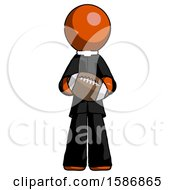 Orange Clergy Man Giving Football To You