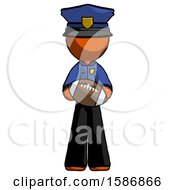 Orange Police Man Giving Football To You