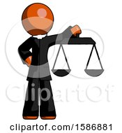 Orange Clergy Man Holding Scales Of Justice