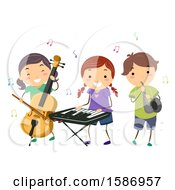Group Of Children Playing Instruments