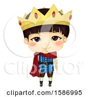 Clipart Of An Asian Boy Prince Royalty Free Vector Illustration